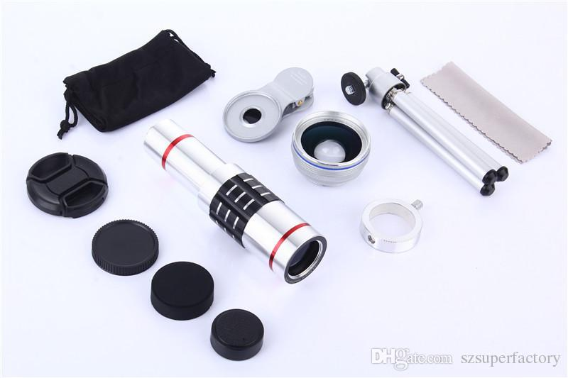 Hx universal phone lens kit zoom telescope no black