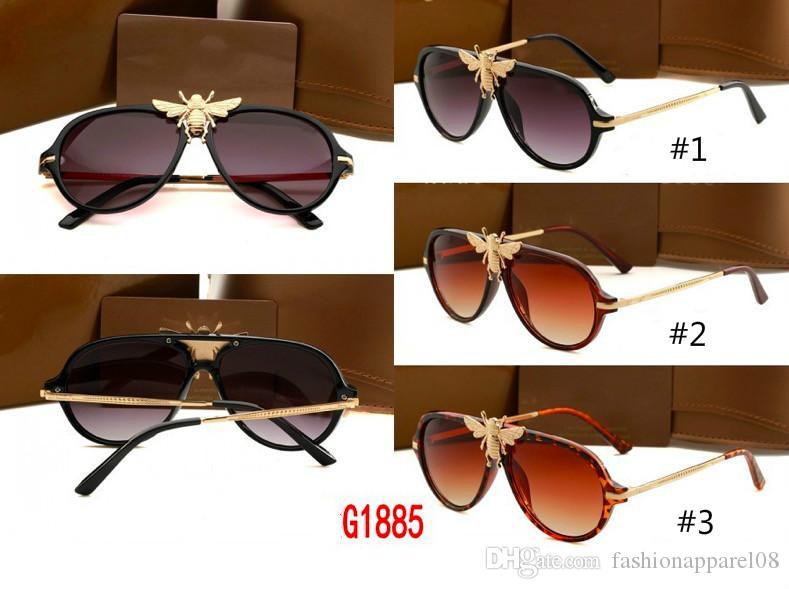 Compre Melhor Novo Estilo De Moda Óculos De Sol Para Homens E Mulheres  Óculos De Proteção UV Óculos De Sol Abelha Famoso Design De Luxo Da Marca  Wiht Caixa ... b2d4dc8d91