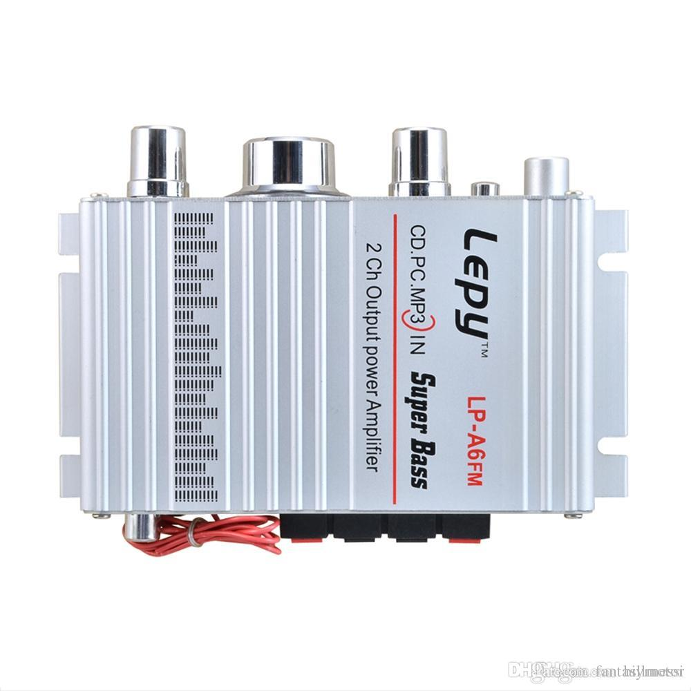 LP - A6 Mini Hi-Fi Stereo Output Power Amplifier Support FM Fuction for Car  Mobile phone MP3 MP4 PC Supports Volume Control B