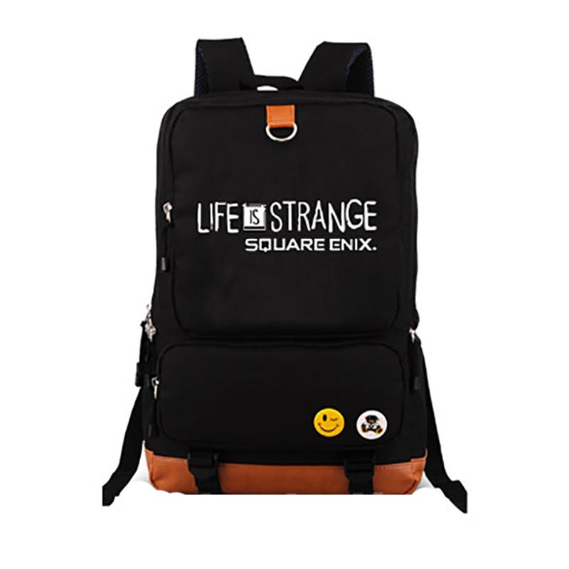f209d5c8c4e9 Hot Life Is Strange Backpack Canvas Student Schoolbag Uni Travel Bags For  Teens Back School Games