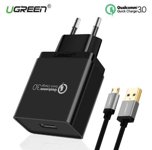 1d8ffba1bac Cargador Portatil Celular Cargador USB Ugreen Cargador De Teléfono Móvil De  Carga Rápida 18W 3.0 Para IPhone Cargador Rápido Adaptador Para Huawei  Samsung ...