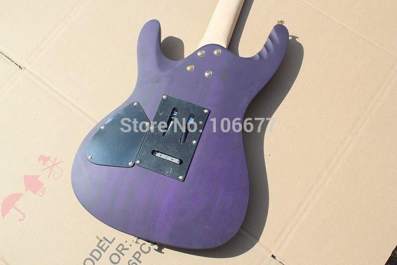 Nova Chegada de Alta Qualidade Ibz Dragão ForceEGEN8-Herman Li Floyd Rose Matt Guitarra Elétrica Roxa Chrome Hardware Frete Grátis