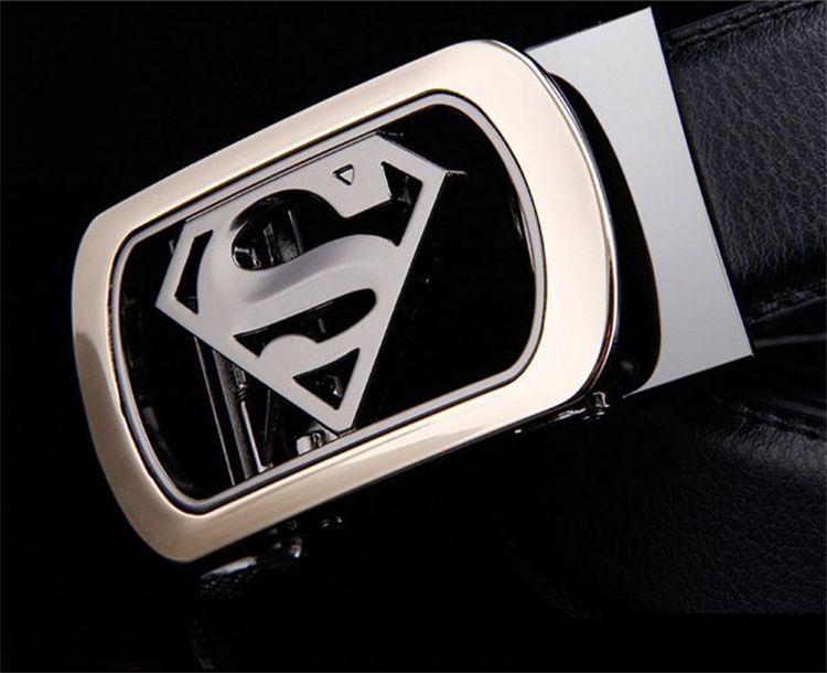 Novo Designer Cintos de Alta Qualidade Dos Homens Cintos de Luxo dos homens Superman Fivela Automática Cintos De Couro Para Homens Cinturones Hombre