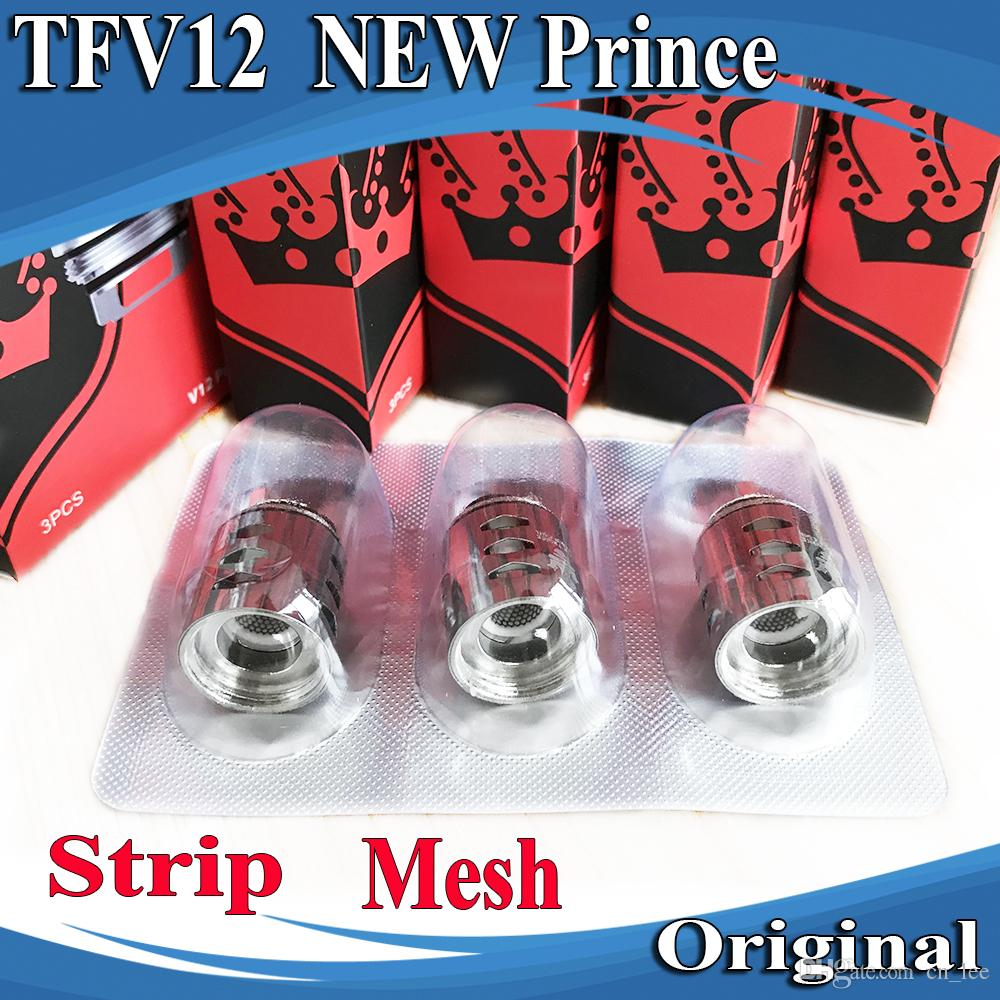 100% Original TFV12 Prince New Coil Tank Atomizer V12 Strip Mesh 0.15ohm Replacement Coils Head Core Genuine SMOKTECH