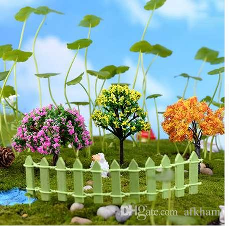 Mini Tree Plants Miniature Fairy DIY House Dollhouse Garden Micro Bonsai Decor