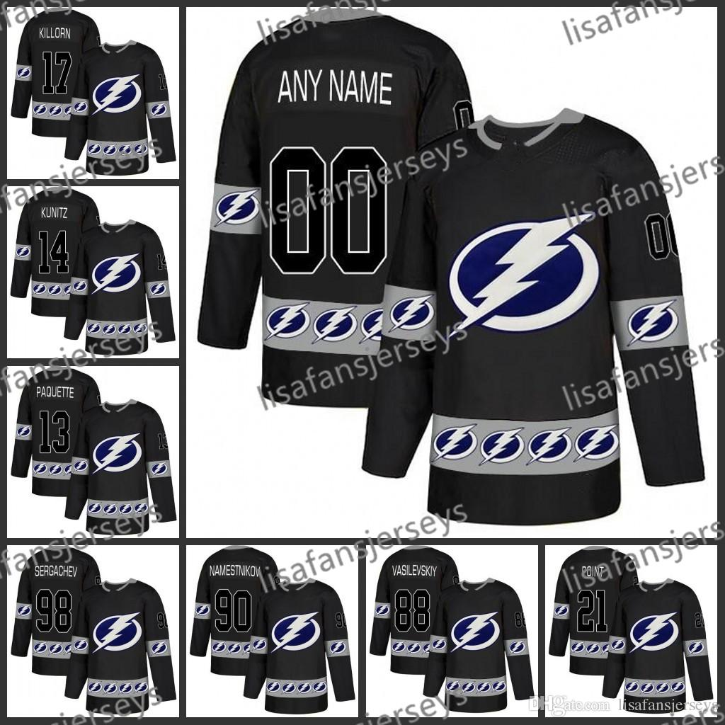 promo code d427a 7113a MensCustomized Tampa Bay Lightning 2019 New Brand Stitched Custom Black  Personalized ice Hockey Embroidered Jerseys S-XXXL