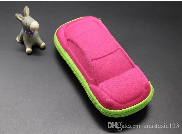 아기 안경 귀여운 만화 자동차 선글라스 상자 자식 편지지 상자 지퍼 안경 상자.