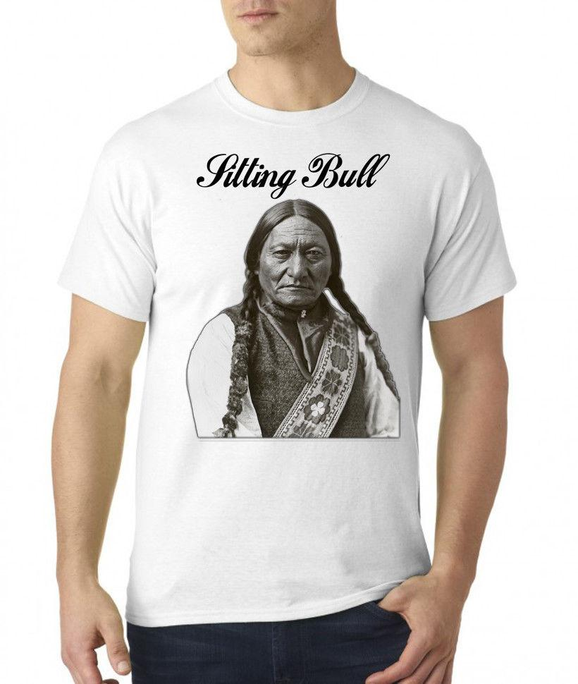 f6cd2d45d0 Sitting Bull Indian Chief Portrait Mens T Shirt Online Shopping Tee Shirts  Crazy T Shirts For Men From Spreadshirt, $11.01| DHgate.Com