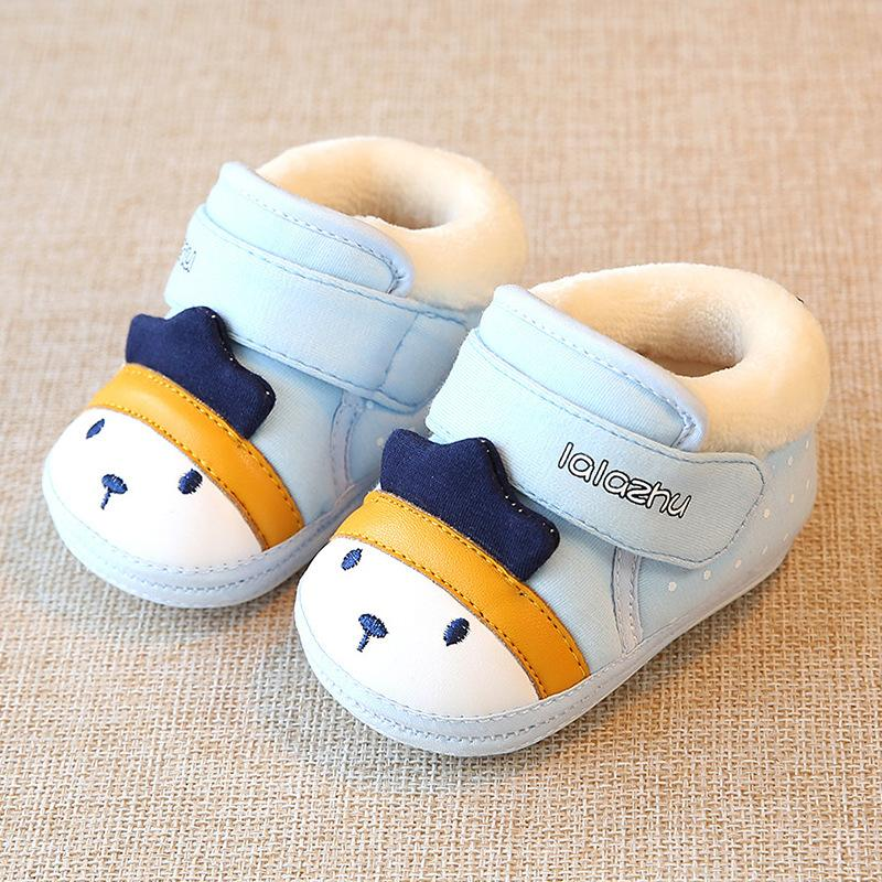 d032f0dbe865 Winter New Baby Warm Shoes Newborn Boys And Girls Cute Cartoon Breathable  Soft Thick Cotton Padded Shoes For 0 3 Months Old 11CM Boys Sneaker Sale  Discount ...