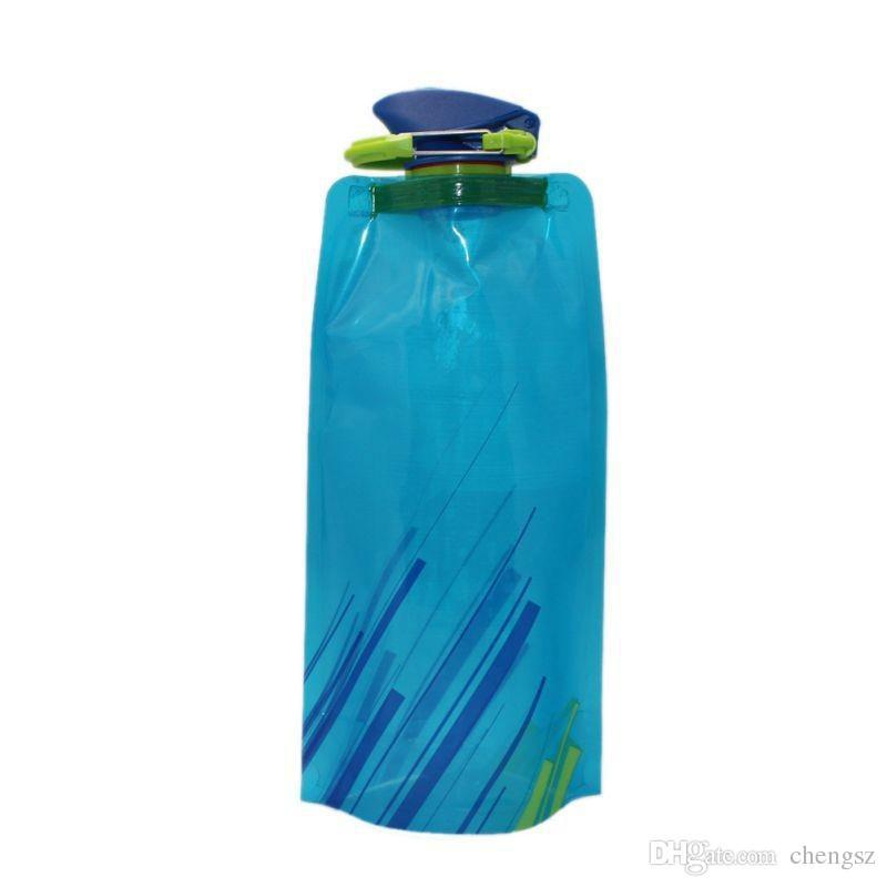 Новый Водный Мешок 700 МЛ Портативный Складной Спортивный Мешок Воды На Открытом ВоздухеЛюбительские Складная Спортивная Бутылка Воды С Pothook