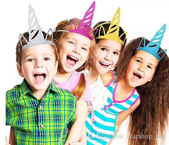 Unicorn Party Hats Glitter Unicorn Party Supplies Colored Party ...