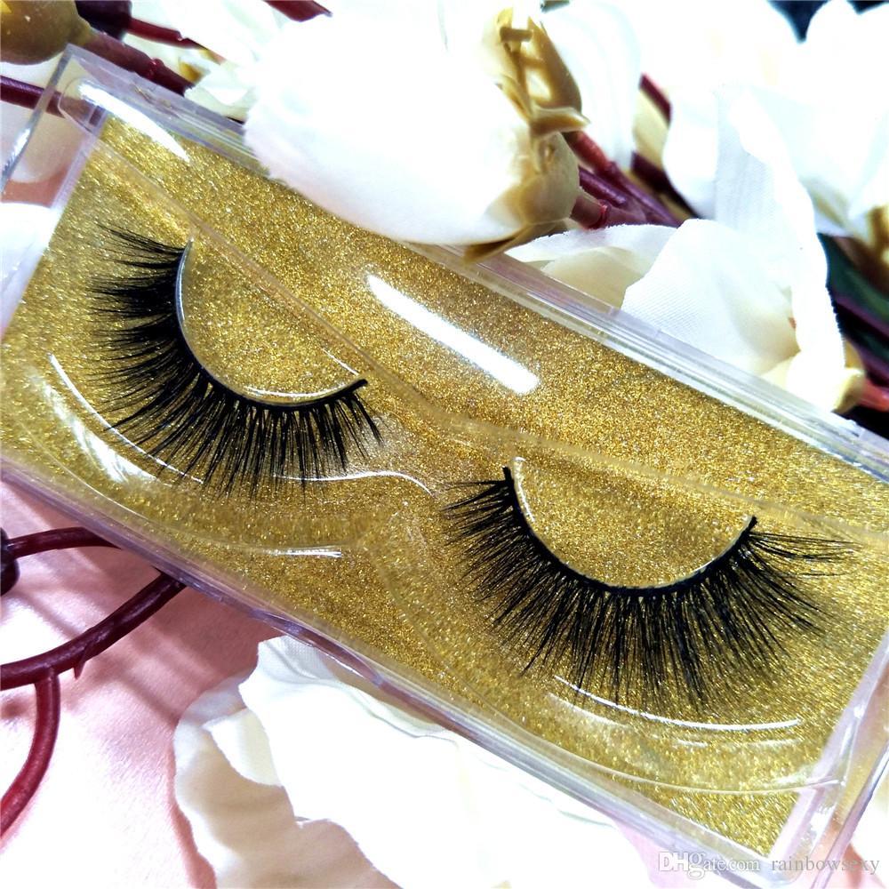 Top 3D Real Pramade Lashes Personalizar Lable Mink Lash Sexy Mink Eyelashes Extension 10 Pares / Envío Gratis P7