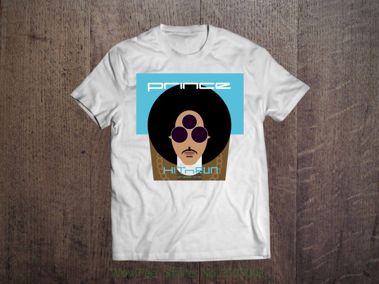 Prince Men White T Shirt Purple Rain Rock Legend Rip Tee Shirt