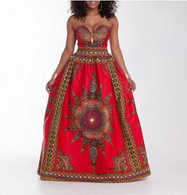 7855c1a802 2019 Traditional African Print Dashiki High Waist Ankara Floral Long Skirt  A Line Hippie Indian Style Pattern Asymmetrical Floor Length Skirts From  Summerh, ...