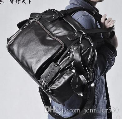 Fashion Genuine Leather Men s Travel Bag Luggage Men Carry On ... 86f552fcea130