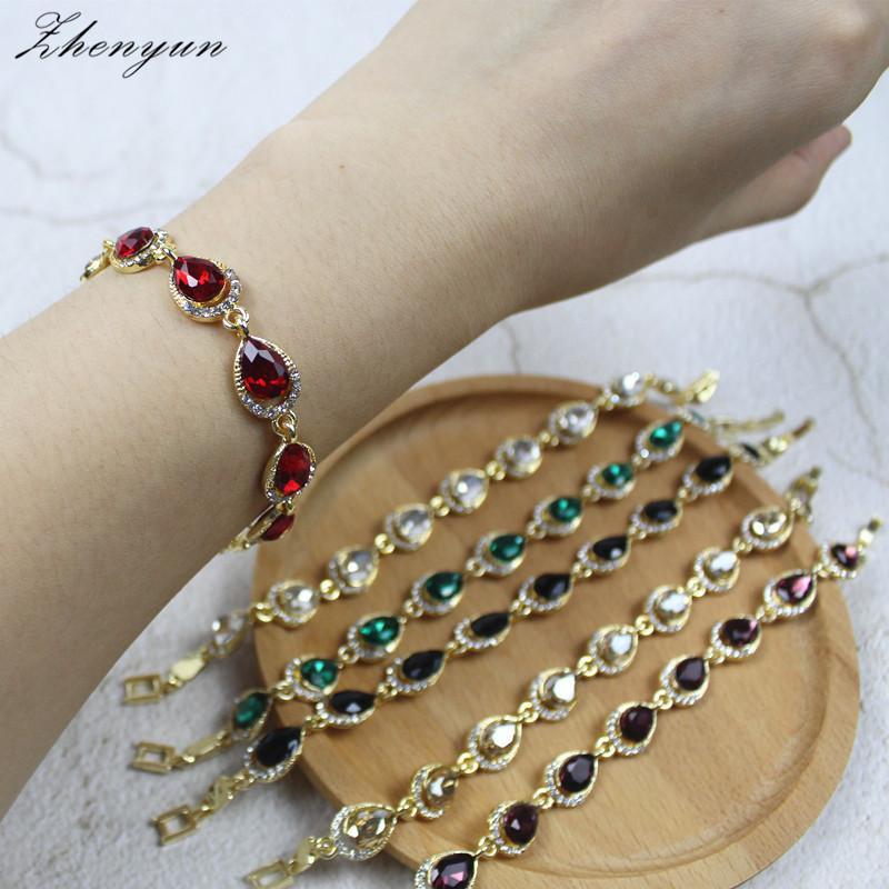 ZHENYUN Gold Color Fashion Crystal Bracelet Alloy Teardrop Bracelet for  Women Wedding Jewelry Accessories Mothers Day Gift Charm Bracelets Cheap  Charm ... 9d414732a96d