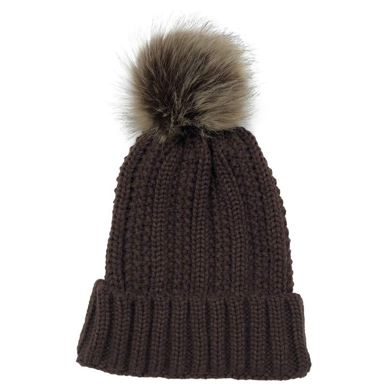 Basic Blank Winter Cap For Female Daily Women S Knitted Hats Brown Beanie  With Removeable Pom Pom Beanie Hoodies From Clintcapela ef7878a8e9d