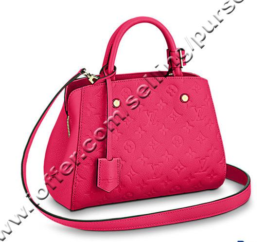 9e4443cb00 Montaigne Bb M54199 Freesia Hot Pink Emprente Leather Women Handbags  Shoulder Messenger Bags Totes Iconic Cross Body Bags Top Handles Leather  Backpack ...