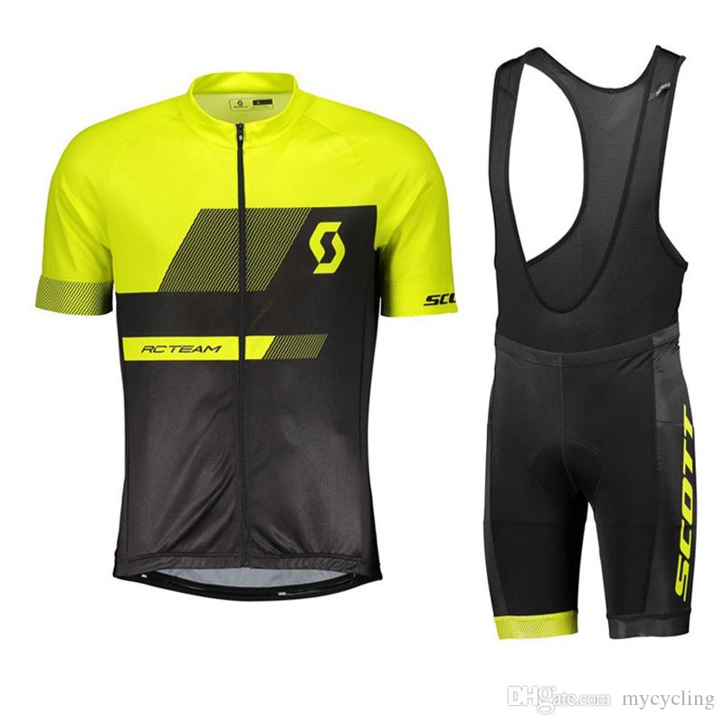 Summer Scott 2018 Men Cycling Jersey Maillot Ciclismo Cycling Clothing Ropa  Ciclismo Short Sleeve Bike Clothing Bib Shorts Set 82409Y Cycling Underwear  ... 6f8a25782