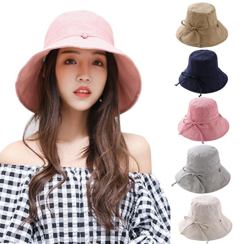 907d737d High Quality Bucket Hats Women Big Brim Bucket Cap Girls Sun Protection Cap  Fishing Summer Sun Beach Hat Stetson Hats Cowboy Hats From Qiuyuezhong, ...