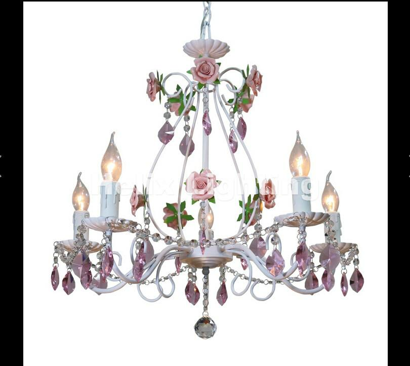 Merveilleux Modern White European Chandelier Lamp Lustre Light 3L/5L/8L Pink Rose  Flower Light Fixture E14 Decoration Lamp Kitchen Chandeliers French  Chandelier From ...