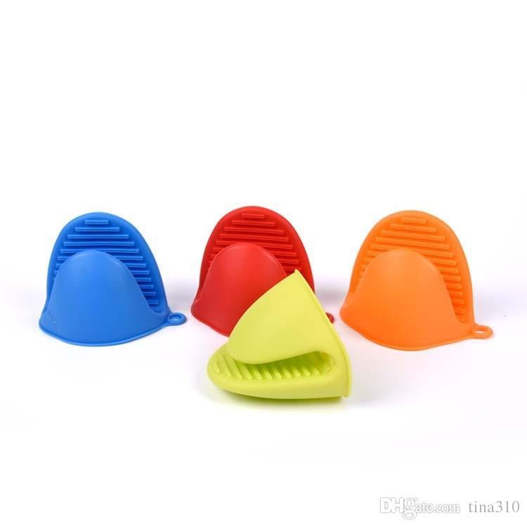 Silikon-Ofen-Handschuh-Clip Kuchen Bakeware Hitzebeständige Anti-Rutsch-Hand Clip Convenient Ofen Mikrowelle Mitt T3I0150