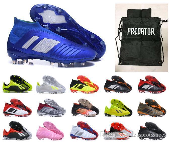 WORLD CUP Zapatos De Fútbol Sin Cordones Para Hombre Predator Para Niños 18  X Botas De Fútbol Pogba FG 2018 Rusia Mujeres 35 46 Tacos De Fútbol Para ... ac0ca8dd2f71e