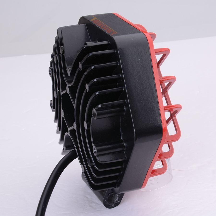 Black Red Shell 27W LED Front Bumper Dome Work Light For Car SUV ATV UTV 4*4 Offroad Boat 12V 24V