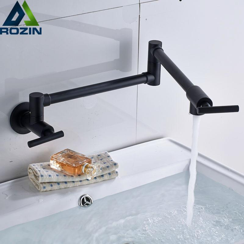2018 Wall Mounted Cold Water Folding Kitchen Faucet Single Handle ...