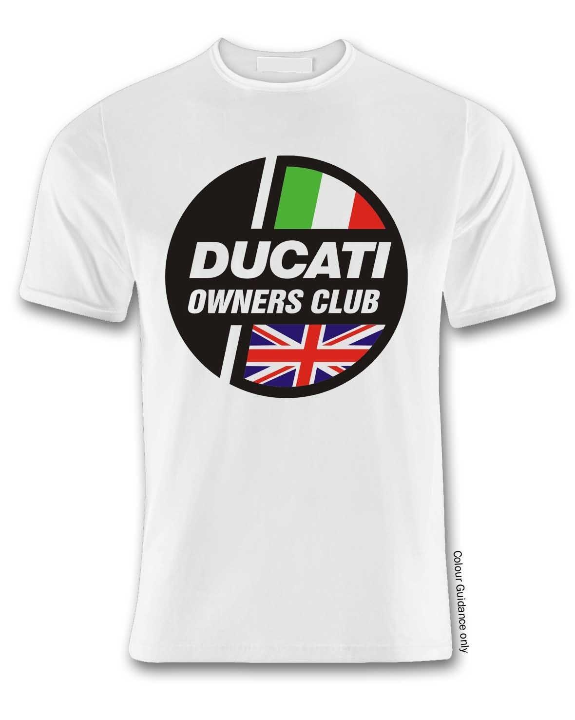 2a221f0d Ducatti Owners Club White T Shirt Tees Men Tops Tees Casual Male ...