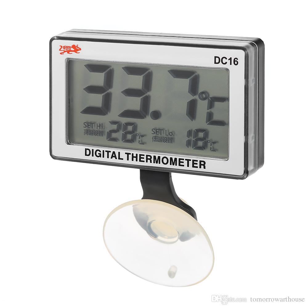 LCD Digital Fish Tank Aquarium Thermometer Submersible Water Temperature High/Low Temperature Alarm