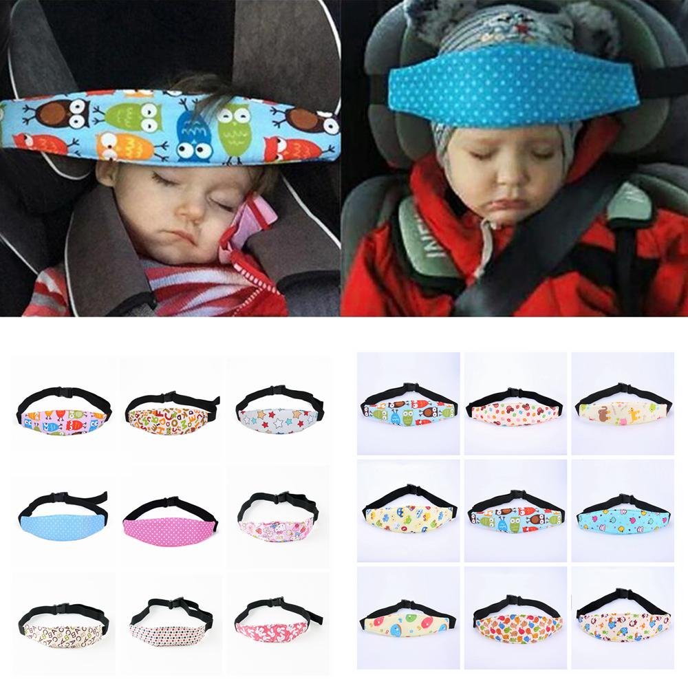 18 Colors Safety Baby Kids Car Seat Sleep Nap Aid Adjustable Head Band  Support Holder Belt Pad Strap AAA582