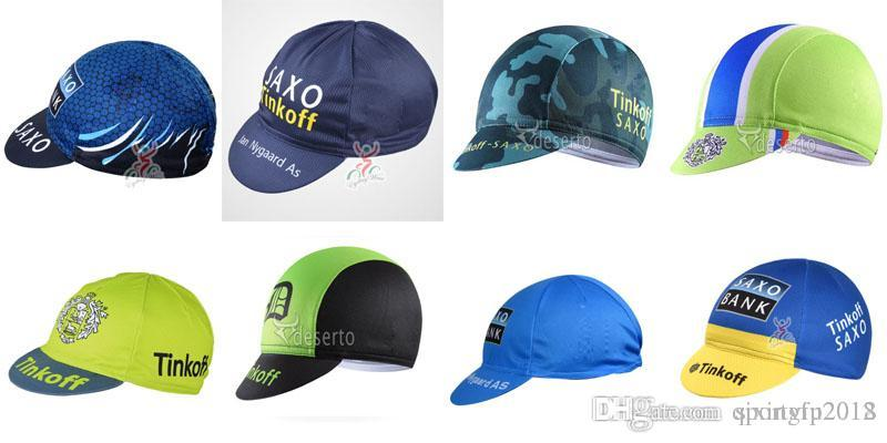 04ca4a34a8a SAXO BANK TINKOFF Team Men Women Cycling Caps Bicycle High Quality ...