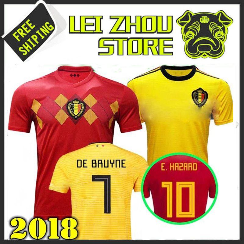 Compre 2018 Copa Do Mundo De Futebol Da Bélgica 2019 Thail Qualidade Home  Away LUKAKU FELLAINI E.HAZARD KOMPANY DE BRUYNE 18 19 Bélgica Camisa De  Futebol De ... 99a41eb4a16a0