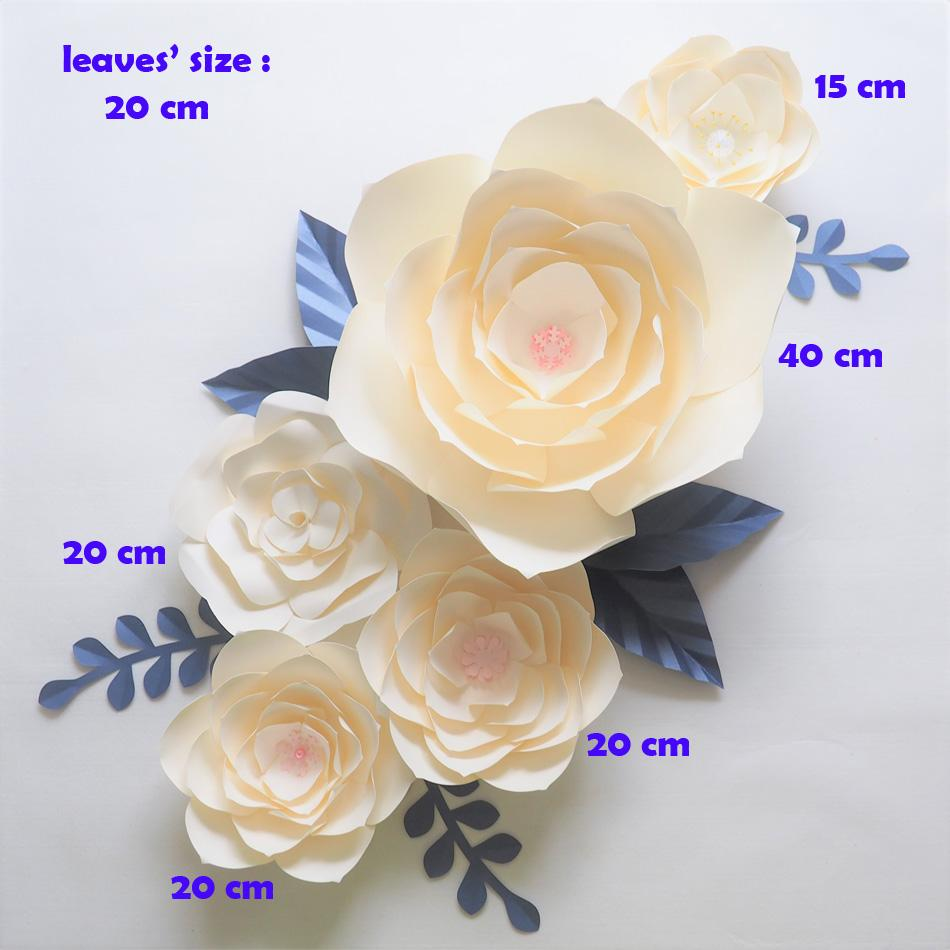2018 diy giant paper flowers backdrop artificial handmade ivory 2018 diy giant paper flowers backdrop artificial handmade ivory paper flower 7 leaves wall for wedding party decorations home deco from diyunicornflowers mightylinksfo