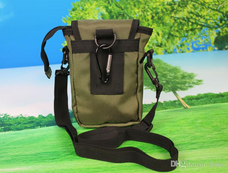 Multi Functional Cellphone Camera Bag Shoulder Carrying Neck Hanging Pouch Travel Portable Small Nylon Zipper Storage Carry Pack