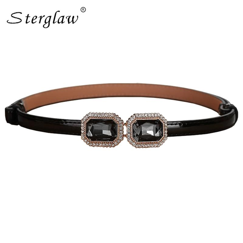 Hot Summer Style Flower Crystal Thin Belts Women Candy Colored