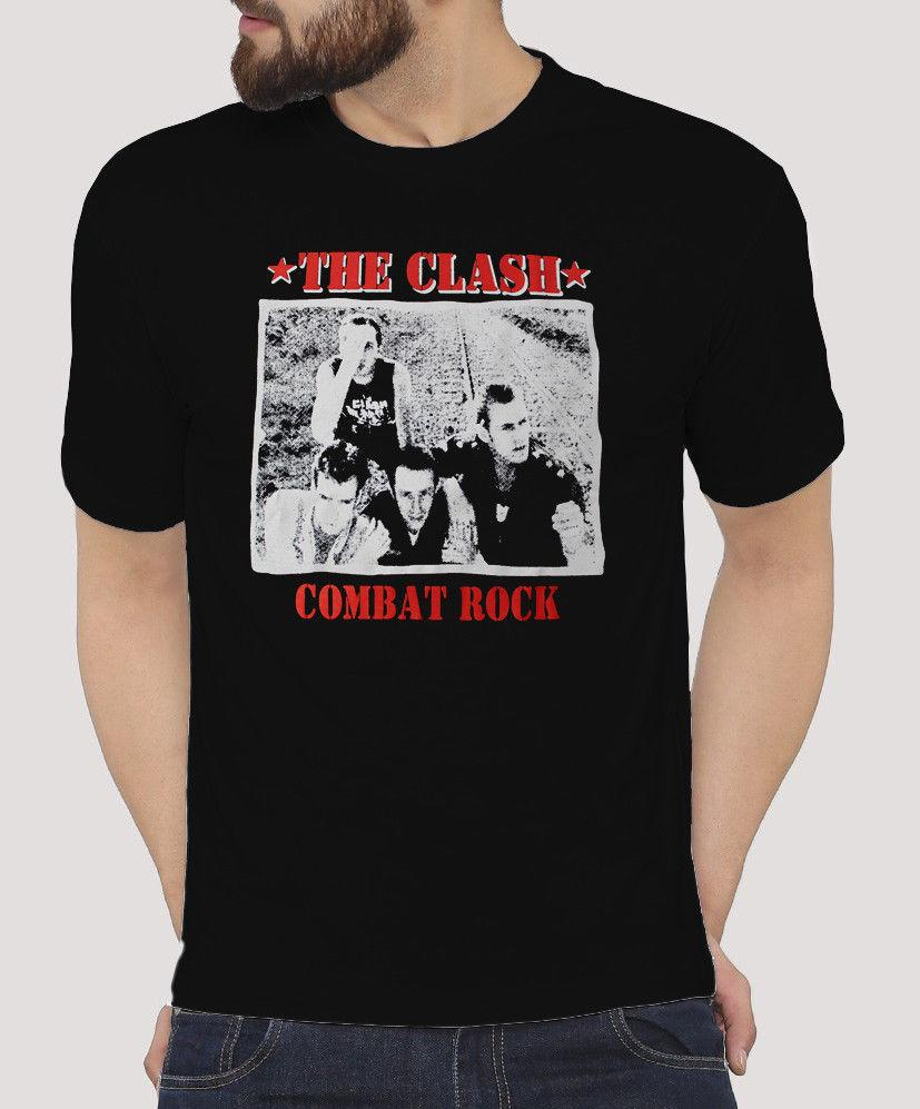 The Clash (Combat Rock) Punk Rock Band Graphic 100% Cotton T-Shirt S - XXL