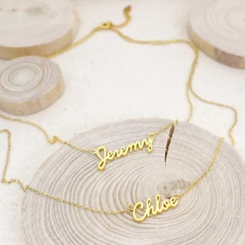 2019 Double Name Teo Layers Personalized Custom Name Pendant