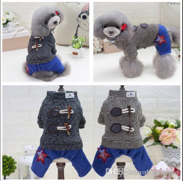Discount Dog Clothes Sweater Jeans Coat 4 Feet Pet Apparel Jacket ...