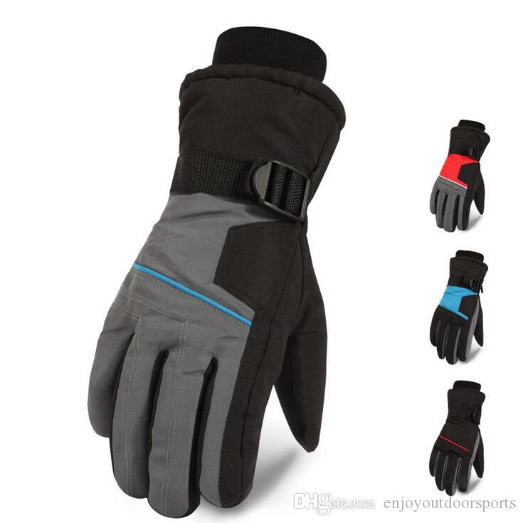 Winter Warm Mountain Snowboard Ski Gloves Men Thermal Fleece Cold Snow  Gloves Skiing Mittens Waterproof Snowmobile Riding Bicycle Gloves UK 2019  From ... e3eb2d504