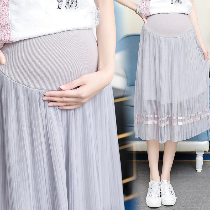 d5834690a Compre Nuevo 2018 Faldas De Maternidad De La Cintura Elástica Del Vientre Ropa  Para Mujeres Embarazadas Summer Embarazo Bottoms Ropa Faldas Cortas A   47.49 ...