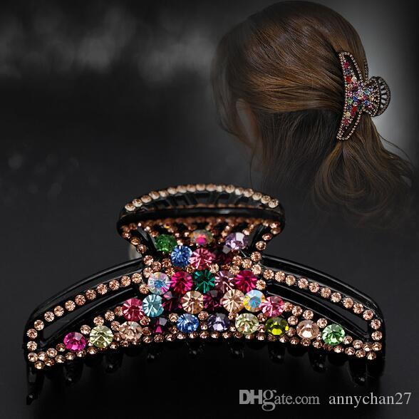 Hair Jewelry Large Clamps Luxury Austrian Crystal Rhinestone big Hair Claw Mother Day Valentine Gift Grace Jewerly DHL