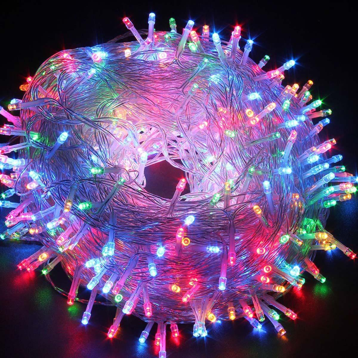300 leds christmas lights fairy string lights 30m984ft transparent wire ac 110v multi color commercial outdoor string lights copper string lights from