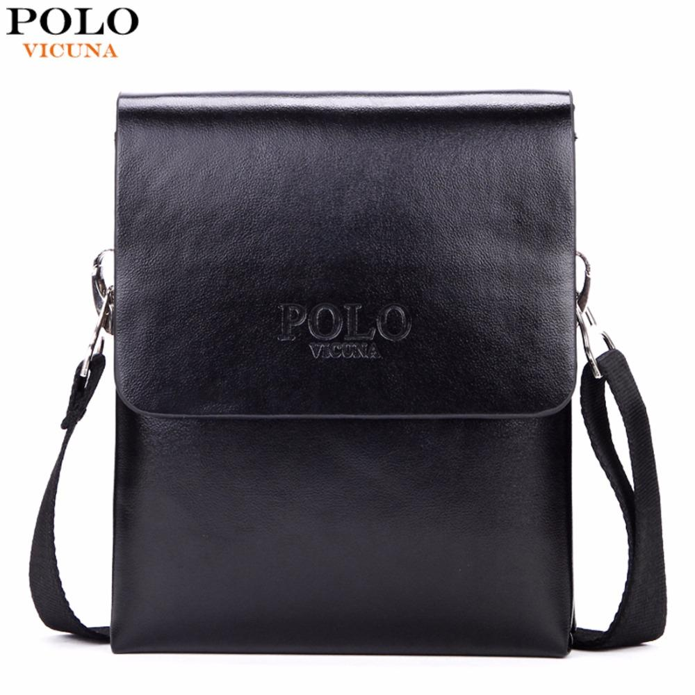 b593e81b92a4 VICUNA POLO Hot Sell Brand Solid Double Pocket Soft Leather Men Messenger  Bag Small 2 Layer Mens Travel Bag Mens Bag For Phone Clutch Bags Designer  Bags ...