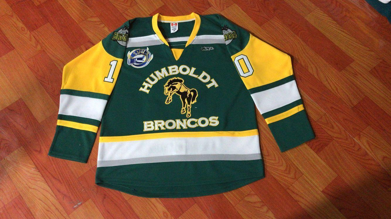 Men Real Full Embroidery  10 HUMBOLDT BRONCOS HUMBOLDT STRONG STRASCHNITZKI  HOCKEY JERSEY Or Custom Any Name Or Number Retro Jersey UK 2019 From  Ncaa001 7b3ac3eb920b
