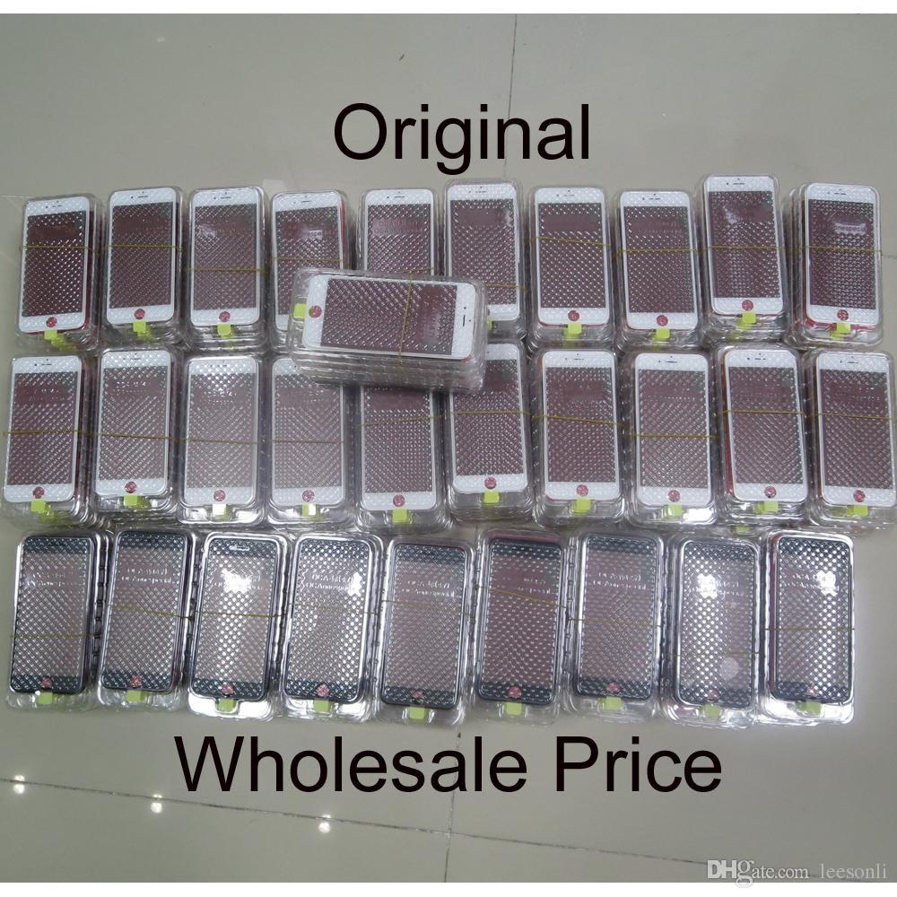 Lentille en verre d'écran tactile LCD originale avec cadre lunette OCA LCD film polariseur pour iphone 6 plus