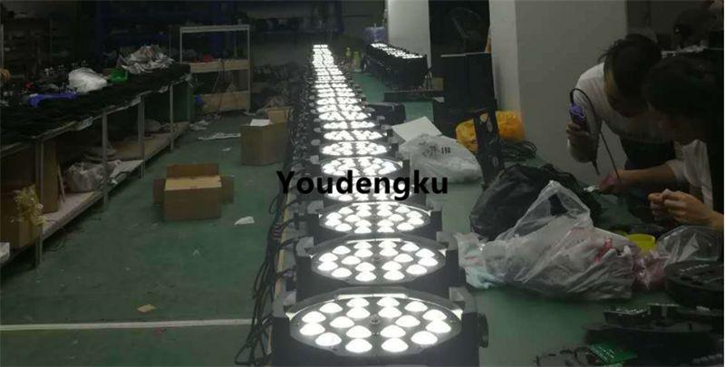 4 parça led par sahne ışık 18 adet x 18 w led par zoom par led rgbwa uv yakınlaştırma