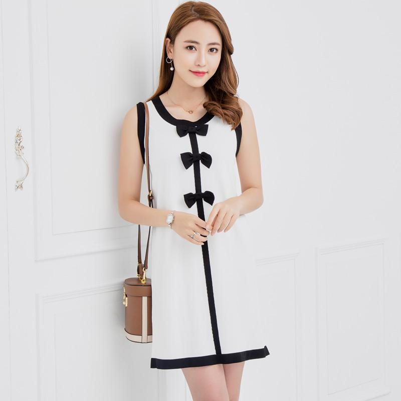 2a3665a856d 2019 Women Dresses Spring And Summer Oneck Knee Length Dress Girls Fashion  Long Korean Style Dresses Ladies Fashion Sleeveless Cloth From Aprili