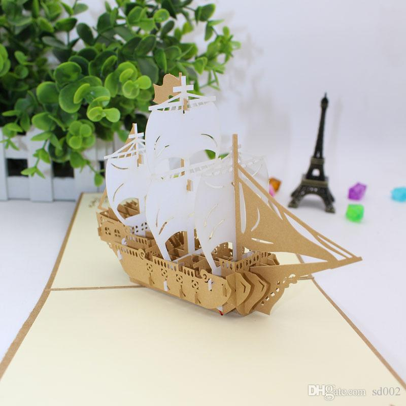 originality 3d greeting cards paper cut carving birthday card sailboat big ben carriage notre dame cornucopia wedding invitations 7 5hl gg greet cards - Big Greeting Cards